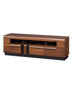 Comoda TV din MDF si pal, cu 3 sertare Porti 25 Stejar Antic, l160xA42xH51 cm