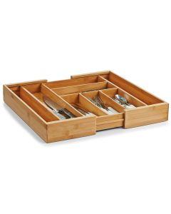 Organizator pentru tacamuri, Bamboo, 8 compartimente, l35-58xA43xH6,5 cm