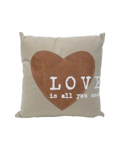 Perna decorativa Love is all you need Multicolor, L40xl40 cm