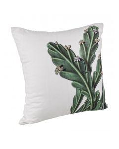 Perna decorativa Thar Alb / Verde, L45xl45 cm
