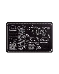 Suport vesela din PP, Placemat Italian Menu Negru, L43,5xl28,5 cm