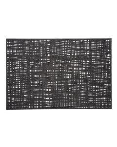 Suport vesela din PVC, Placemat Negru, L45xl30 cm