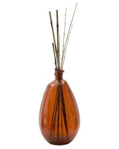 Vaza decorativa din sticla reciclata Roto Portocaliu, Ø26xH47 cm